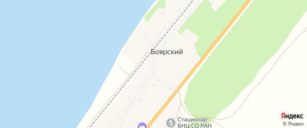 Трактовая улица на карте поселка Тимлюя с номерами домов