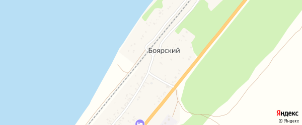 Трактовая улица на карте Боярского поселка с номерами домов