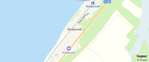 Карта Боярского поселка в Бурятии с улицами и номерами домов