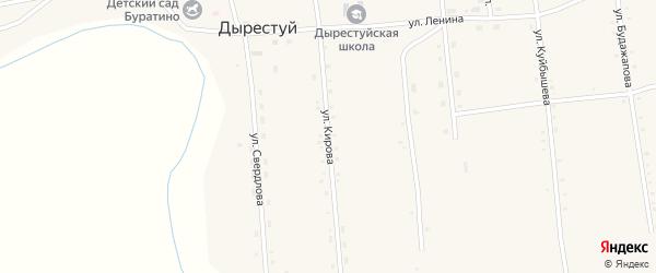 Улица Кирова на карте улуса Дырестуй с номерами домов