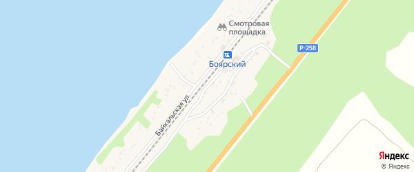 Железнодорожная улица на карте поселка Тимлюя с номерами домов