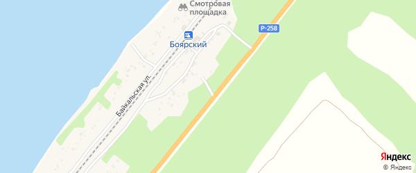 Березовая улица на карте Боярского поселка с номерами домов