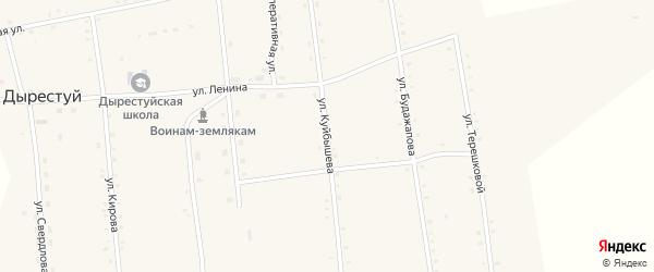 Улица Куйбышева на карте улуса Дырестуй с номерами домов