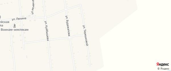 Улица Терешковой на карте улуса Дырестуй с номерами домов