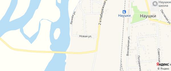 Новая улица на карте поселка Наушек с номерами домов