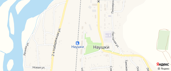 Комсомольская улица на карте поселка Наушек с номерами домов