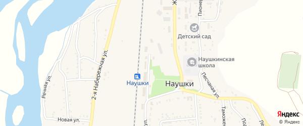 Набережная 4-я улица на карте поселка Наушек с номерами домов