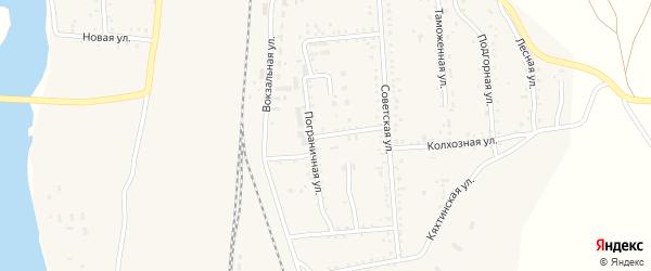 Рабочая улица на карте поселка Наушек с номерами домов