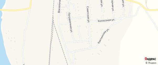 Партизанская улица на карте поселка Наушек с номерами домов