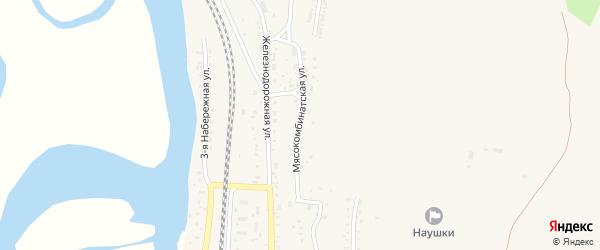Мясокомбинатская улица на карте поселка Наушек с номерами домов