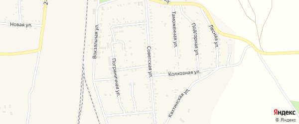 Советская улица на карте поселка Наушек с номерами домов