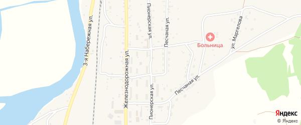 Пионерская улица на карте поселка Наушек с номерами домов