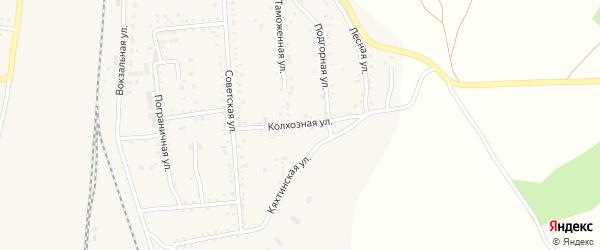Колхозная улица на карте поселка Наушек с номерами домов
