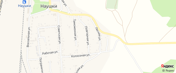 Подгорная улица на карте улуса Цаган-Челутай с номерами домов