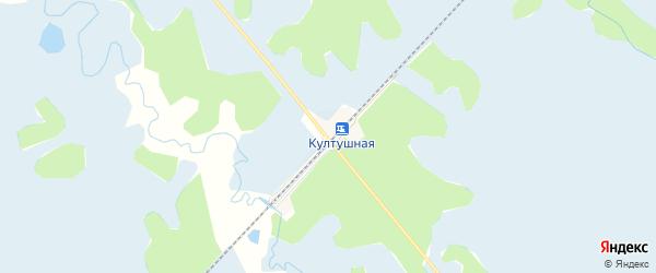 Карта местечка Култушной в Бурятии с улицами и номерами домов