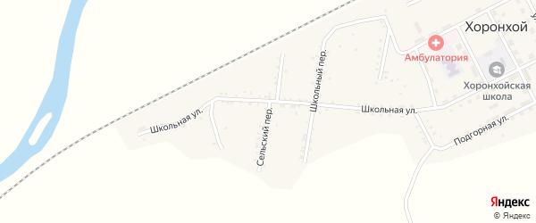 Сельский переулок на карте Хоронхоя поселка с номерами домов