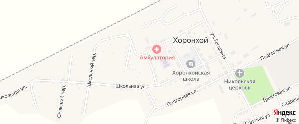 Хоронхойская улица на карте Хоронхоя поселка с номерами домов