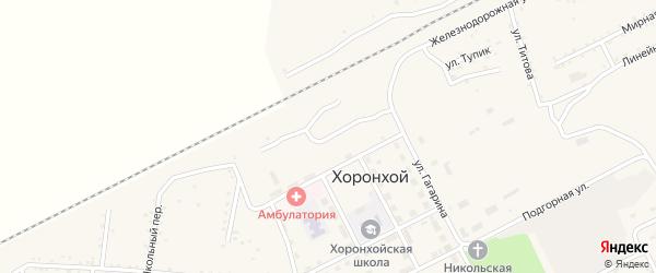 Спортивная улица на карте Хоронхоя поселка с номерами домов