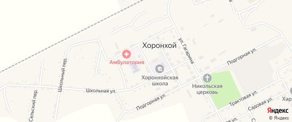 Зеленая улица на карте Хоронхоя поселка с номерами домов