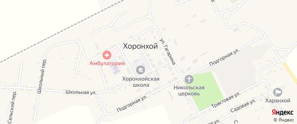 Улица Ленина на карте Хоронхоя поселка с номерами домов