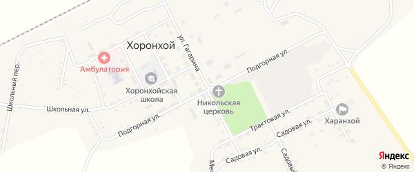Улица Гагарина на карте Хоронхоя поселка с номерами домов