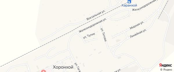 Улица Тупик на карте Хоронхоя поселка с номерами домов