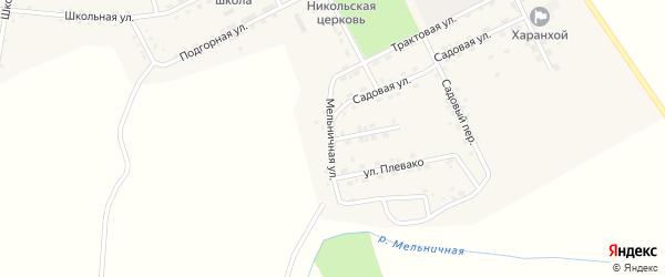 Мельничная улица на карте Хоронхоя поселка с номерами домов