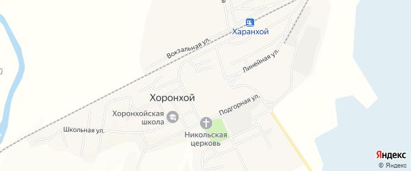 Карта Хоронхоя поселка в Бурятии с улицами и номерами домов