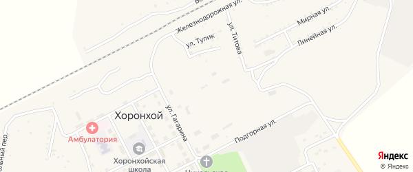 Улица Титова на карте Хоронхоя поселка с номерами домов