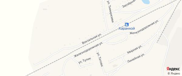 Вокзальная улица на карте Хоронхоя поселка с номерами домов