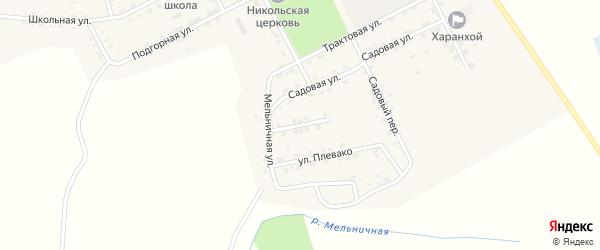 Лесная улица на карте Хоронхоя поселка с номерами домов