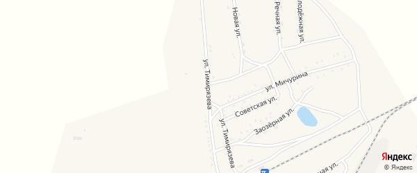 Улица Тимирязева на карте Хоронхоя поселка с номерами домов