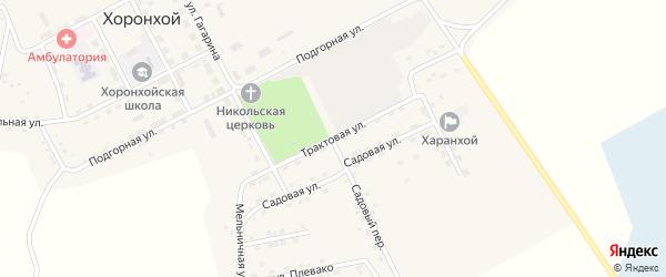 Трактовая улица на карте Хоронхоя поселка с номерами домов