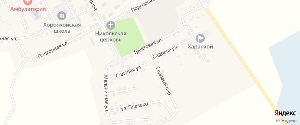 Садовая улица на карте Хоронхоя поселка с номерами домов