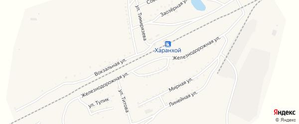 Железнодорожная улица на карте Хоронхоя поселка с номерами домов