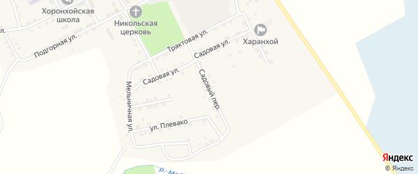 Садовый переулок на карте Хоронхоя поселка с номерами домов