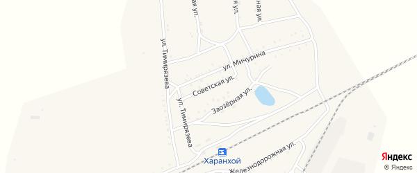 Советская улица на карте Хоронхоя поселка с номерами домов
