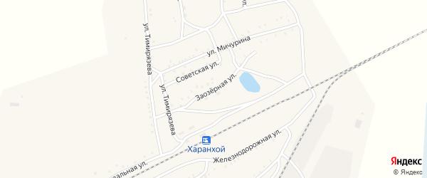 Заозерная улица на карте Хоронхоя поселка с номерами домов