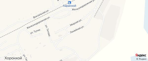 Линейная улица на карте Хоронхоя поселка с номерами домов