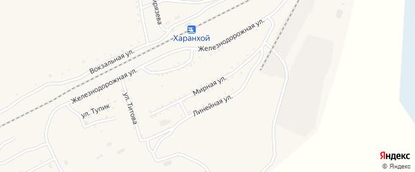 Мирная улица на карте Хоронхоя поселка с номерами домов