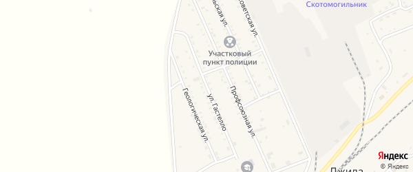 Улица Гастелло на карте поселка Джиды с номерами домов