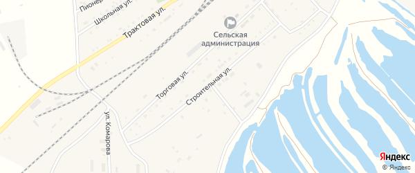 Строительная улица на карте поселка Джиды с номерами домов