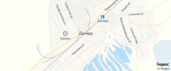 Карта поселка Джиды в Бурятии с улицами и номерами домов