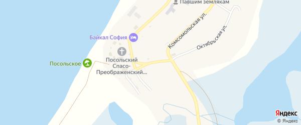 Кольцевая улица на карте Посольского села с номерами домов