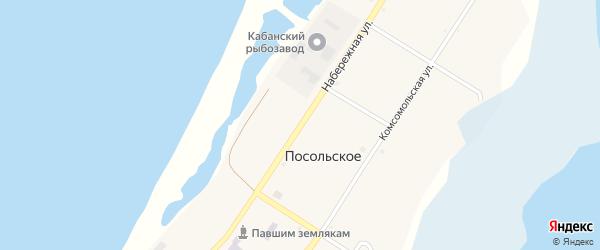 Набережная улица на карте Посольского села с номерами домов