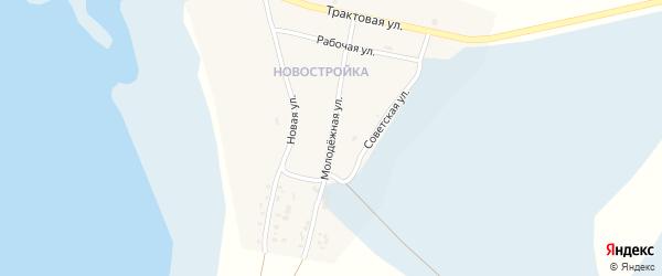 Молодежная улица на карте Посольского села с номерами домов