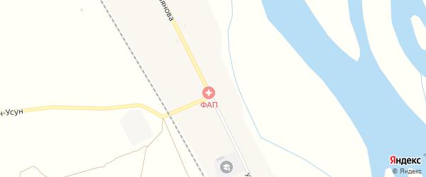 Улица Ульянова на карте села Зарубино с номерами домов