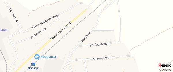 Новая улица на карте поселка Джиды с номерами домов