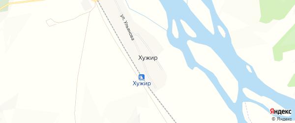 Карта поселка Хужира в Бурятии с улицами и номерами домов