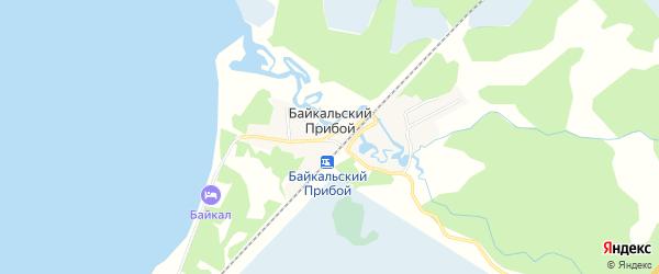Карта Байкальского прибоя поселка в Бурятии с улицами и номерами домов